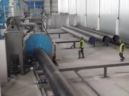Дробеструйная камера тунельного типа для обработки труб