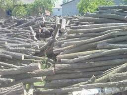 Дрова дубовые, клен, сосновые колотые, метровками