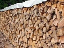 Дрова дубовые колотые для отопления.