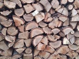 Дрова колотые, чурки, метровки: дуб, береза, ольха, сосна