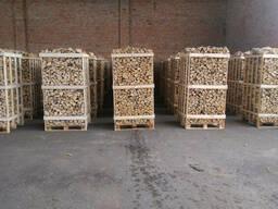 Дрова колотые сухие в контейнерах (береза, ольха)