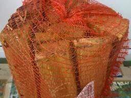 Дрова колотые в сетках по 15 дм. куб. - дуб, ясень, клен и др