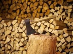 Дрова с доставкой. Дубовые дрова колотые, сухие.