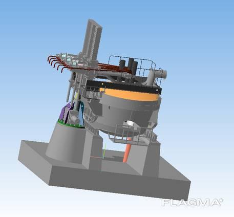 Дуговая сталеплавильная печь переменного тока ДСП 3,0
