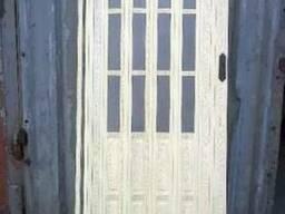 Дверь гармошка полуостекленная, 86х203, ассортимент