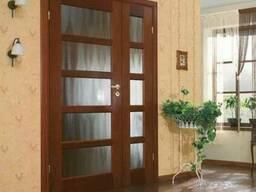 Дверь межкомнатная деревянная полуторная