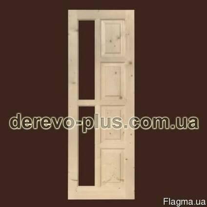Двери деревянные из массива 70см (под стекло)