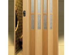 """Двери гармошка с стеклом """"Vinci Decor"""" Бук 100%оригинал"""