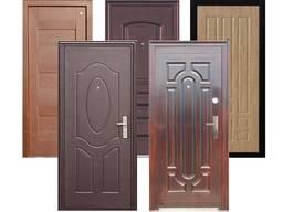 Двери металлические входные с накладками МДФ, дерево, шпон