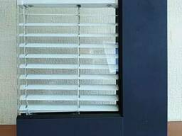 Двери под два стекла с возможностью вставить жалюзи
