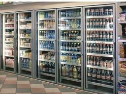 Двери стеклянные с рамами для холодильных витрин