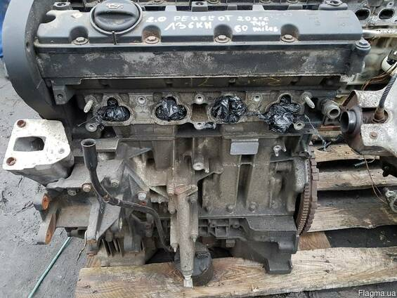 Двигатель 2,0 16V Peugeot 206 CC 2000-2007 разборка б\у