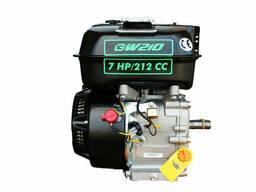 Двигатель бензиновый GrunWelt GW210-S NEW (шпонка, вал 20. ..