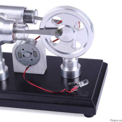 Двигатель Стирлинга Stirling Engine с генератором . Набор.