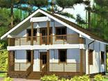 Двухэтажный дом из профилированного клееного бруса 9х10 м - фото 1