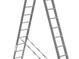 Двухсекционная лестница, алюминиевая лестница