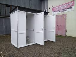 Двухсекционные туалетные кабины