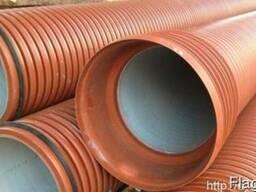 Двухслойные гофрированные трубы для канализации
