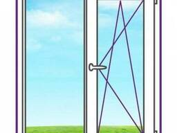 Двухстворчатое окно с одной поворотно-откидной створкой