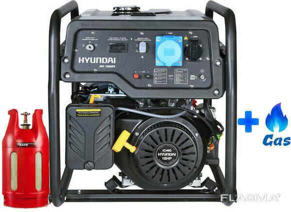 Двухтопливный генератор Hyundai HHY 10000FE ГАЗ-Бензин