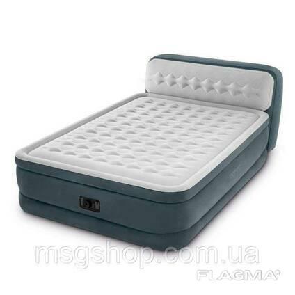Двуспальная надувная кровать Intex Ultra Plush Headboard Airbed + Встроенный. ..
