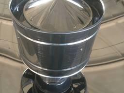 Дымоходный волпер одностенный (Оцинковка) - диаметр Ø100