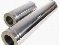 Труба нерж0, 8/0, 5мм, диаметр 150/250 мм. дымоход, 1м