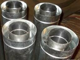 Труба из нержавейки в оцинковке D = 250/320mm, L = 1m