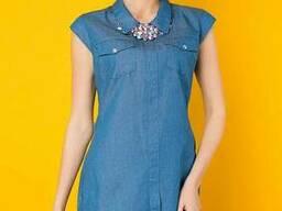 Джинсовое платье с колье 2 цвета