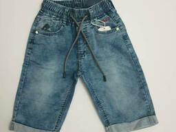 Джинсовые удлиненные шорты на резинке для мальчика