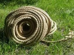 Джутовая веревка 12 мм. Бухта-50 м. 1.95 грн.