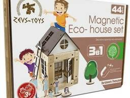 """Эко-конструктор на магнитах ТМ Zevs-toys """"Brown house"""""""