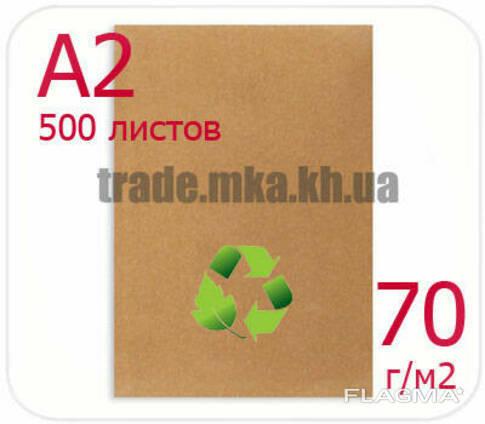 Эко крафт бумага А2 70г/м2 (упаковка 500 л. )