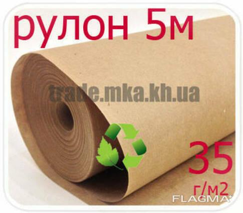 Эко крафт бумага в рулоне 35г/м2 (5 метров)
