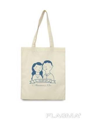 Эко-сумка с вашим логотипом, 100% хлопок, Хит Продаж!