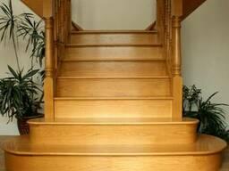 Эксклюзивная деревянная лестница для дома №6 Под заказ