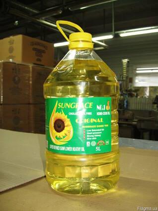 Экспорт раф. дез. подсолнечного масла фасованного