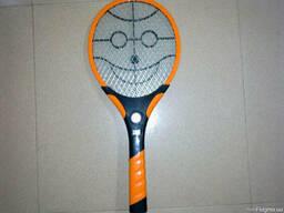 Электрическая мухобойка фонарик на ручке (Fly swatter) Укр
