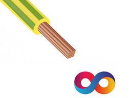 Электрический провод СКЗ ПВ-3 1. 0 Жёлто-зелёный