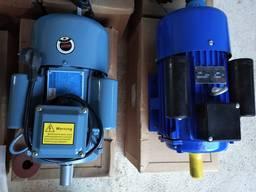 Электродвигатель однофазный 3 квт 3000 об/мин,220В новый!