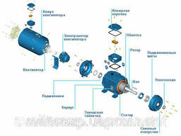 Электродвигатели WEG с принудительной вентиляцией. ..
