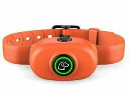 Электронный ошейник антилай для собак Pet Dog 300, водонепроницаемый, оранжевый