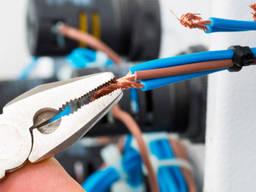 Электротехнические работы внутри помещений и зданий