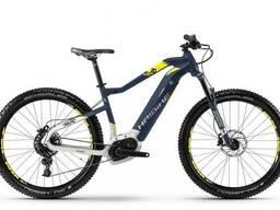 """Электровелосипед Haibike Sduro HardSeven 7.0 500Wh 27,5"""", рама L, синий-бело-желтый, 2018"""