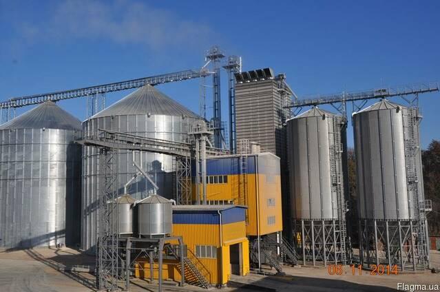 Элеваторы, зерносушилки, зернохранилища, силоса, пневмоперег