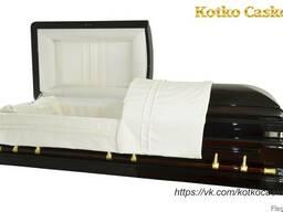 """Элитный гроб саркофаг """"Кеннеди"""", лакированный гроб"""