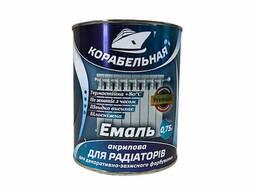 Эмаль акриловая для радиаторов «Корабельная» белая 0, 75 л.