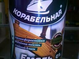 """Эмаль алкидная А/Н ПФ-167 """"Корабельная"""" 0, 9 кг Серебристая"""