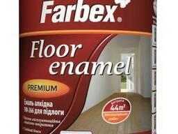 Эмаль для пола ПФ-266 Farbex желто-коричневая 2. 8кг