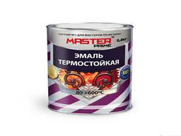 Эмаль термостойкая Farbitex Master prime серебряная 0, 4кг